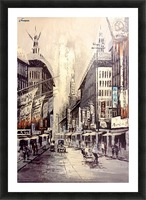 Old Hong Kong Street View Picture Frame print