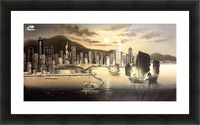 Hong Kong Harbor Skyline Picture Frame print