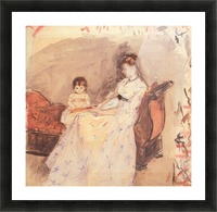 Edma, the sister of the artist with her daughter by Morisot Picture Frame print