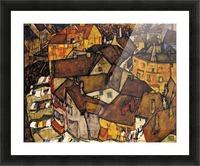 Egon Schiele - Crescent of Houses Picture Frame print