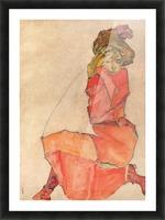 Egon Schiele - Kneeling Woman in Orange-Red Dress Picture Frame print