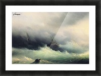 Ships in a Storm Picture Frame print