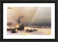 Moscow in Winter from the Sparrow Hills Picture Frame print