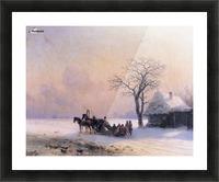 Winter Scene in Little Russia Picture Frame print
