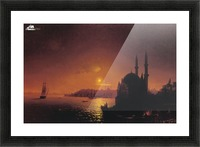View of Constantinople by Moonlight Picture Frame print