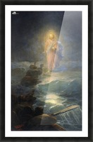 Jesus walks on water Picture Frame print