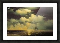 Meeting of the Brig Mercury with the Russian Squadron After the Defeat of Two Turkish Battleships Picture Frame print