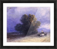 Ox Cart Crossing a Flooded Plain Picture Frame print