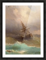 Ship in the Stormy Sea Picture Frame print
