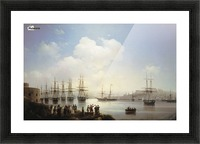 Russian squadron on the raid of Sevastopol Picture Frame print