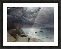 Watching the sea Picture Frame print