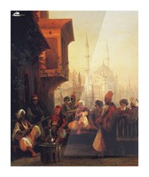 Coffee house by the Ortakoy Mosque in Constantinople Picture Frame print
