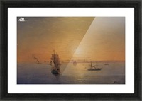 Russian Fleet at Sunset Picture Frame print