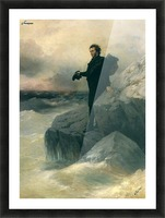 Pushkin and the sea Picture Frame print