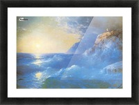 Napoleon on island of St. Helen Picture Frame print