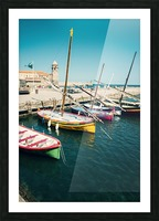 Collioure harbour Anchovy Fishing boats. Picture Frame print
