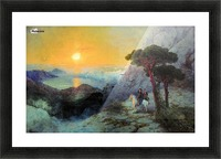 On top of the Ai-Petri Mountain at sunrise Picture Frame print