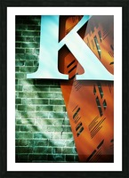 Letter K on wall Picture Frame print
