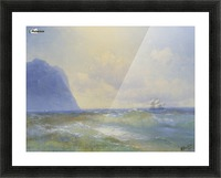 Sun on the sea Picture Frame print