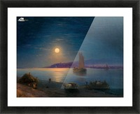 Night at the sea Picture Frame print
