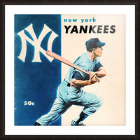 1956 New York Yankees Yearbook Wall Art Picture Frame print