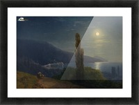 Moonlight by the sea Picture Frame print