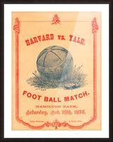 1876 Harvard vs. Yale Picture Frame print