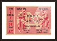 1947 Nebraska vs. Notre Dame Picture Frame print