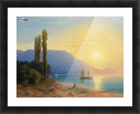 Sunset over Yalta Picture Frame print