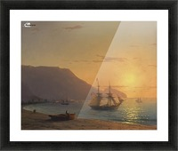 Sunset in Crimea Picture Frame print
