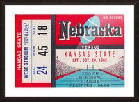 1962 Kansas State vs. Nebraska Cornhuskers Ticket Stub Picture Frame print
