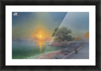 Promenade at sunset Picture Frame print