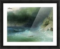 The Tempest near rocks Picture Frame print