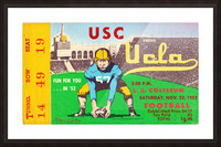 1952 USC vs. UCLA Picture Frame print