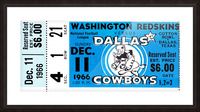 1966 Washington vs. Dallas Picture Frame print