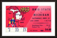 1953_College_Football_Ohio State vs. Michigan_Michigan Stadium_Ann Arbor_Row One Picture Frame print