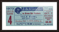 1973_National Football League_New York Giants vs. Green Bay Packers_Yale Bowl_Row One Picture Frame print
