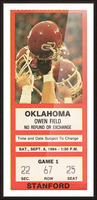 1984_College_Football_Oklahoma vs. Stanford_Owen Field_Row One Picture Frame print