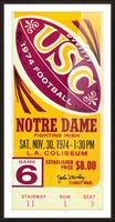 1974 USC vs. Notre Dame Picture Frame print