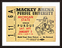 1974_College_Basketball_Michigan State vs. Purdue_Mackey Arena_Row One Picture Frame print