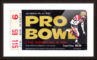 1969_National Football League_Pro Bowl_Los Angeles Coliseum_Row One Picture Frame print