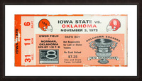 1973_College_Football_Oklahoma vs. Iowa State_Owen Field_Norman_Row One Picture Frame print