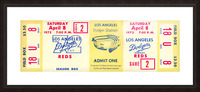 1972_Major League Baseball_Reds vs. Los Angeles Dodgers_Dodger Stadium_Los Angeles_Row One Picture Frame print