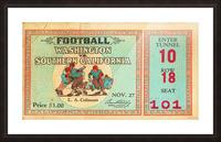 1930 Washington vs. USC Picture Frame print
