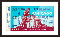 1932 Indiana vs. Chicago Picture Frame print