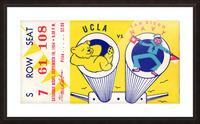 1954 Navy vs. UCLA Bruins Football Ticket Stub Picture Frame print