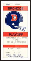 1983 Denver Broncos Football Ticket Stub  Picture Frame print