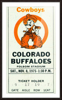 1975_College_Football_Oklahoma State vs. Colorado_Folsom Field_Boulder_Row One Picture Frame print