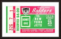 1969 New York Jets vs. Oakland Raiders Ticket Stub  Picture Frame print