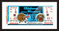 1965_College_Football_Oklahoma vs. Missouri_Memorial Stadium_Columbia_Row One Picture Frame print